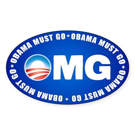 OMG Sticker (Oval)