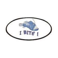 Piranha - I Bite! (blue) Patches