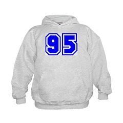Varsity Uniform Number 95 (Blue) Hoodie