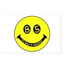 85th birthday smiley face Postcards (Package of 8)