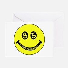 85th birthday smiley face Greeting Cards (Package