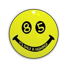 85th birthday smiley face Ornament (Round)