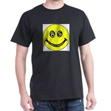 85th birthday smiley face Black T-Shirt