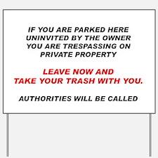 No Trespassing Yard Sign