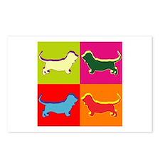 Basset Hound Silhouette Pop Art Postcards (Package