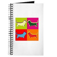 Basset Hound Silhouette Pop Art Journal