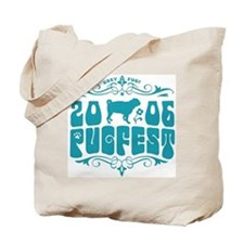 PUGFEST 06 blue logo tote bag
