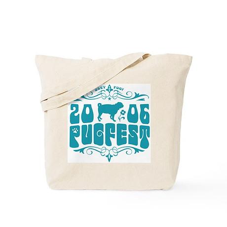 PUGFEST 06 blue logo tote bag