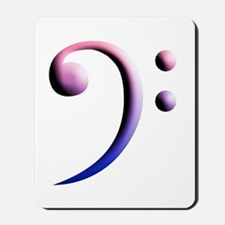 bass clef in bi colors Mousepad