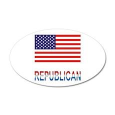 Republican 22x14 Oval Wall Peel