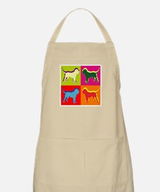 Bloodhound Silhouette Pop Art Apron