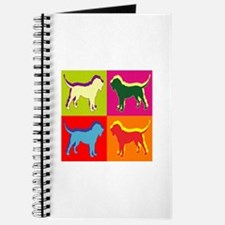 Bloodhound Silhouette Pop Art Journal