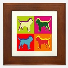 Bloodhound Silhouette Pop Art Framed Tile