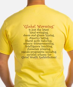 Global Warming- the NEW Global Cooling Yellow Tee