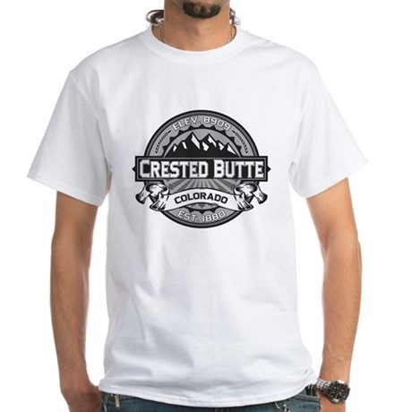 Crested Butte Grey White T-Shirt
