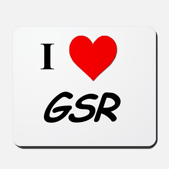 I Heart GSR Mousepad