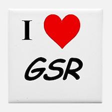 I Heart GSR Tile Coaster