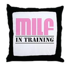 milf in training Throw Pillow