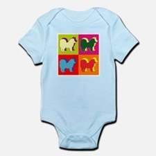 Chow Chow Silhouette Pop Art Infant Bodysuit
