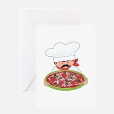 Chef and Pizza Greeting Card