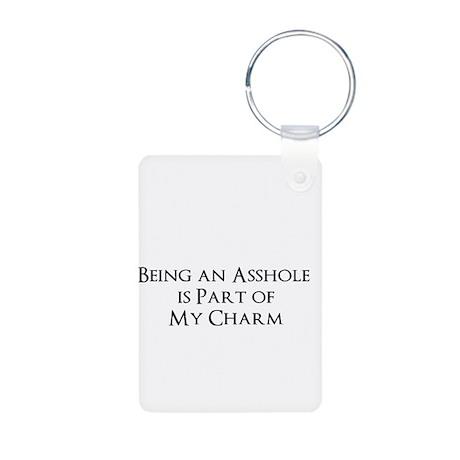 Asshole Aluminum Photo Keychain