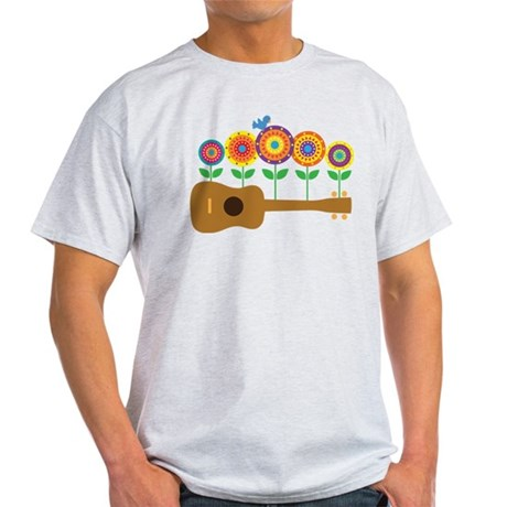 Ukulele Flowers Light T-Shirt