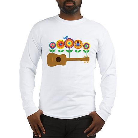 Ukulele Flowers Long Sleeve T-Shirt