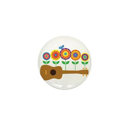 Ukulele Flowers Mini Button (100 pack)