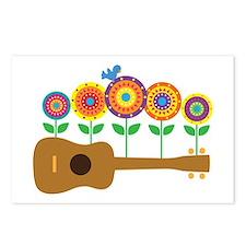 Ukulele Flowers Postcards (Package of 8)