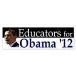 Educators for Barack Obama 2012 bumper sticker