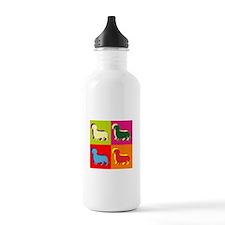 Dachshund Silhouette Pop Art Water Bottle