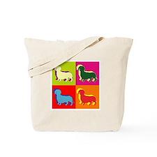 Dachshund Silhouette Pop Art Tote Bag