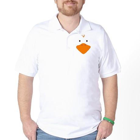 Cute Little Ducky's Face Golf Shirt