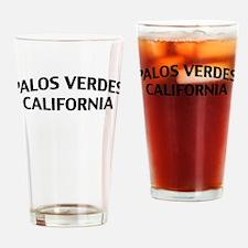 Palos Verdes California Drinking Glass