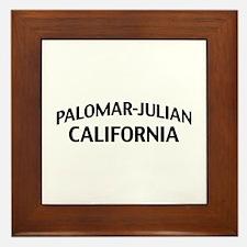 Palomar-Julian California Framed Tile