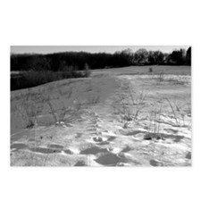 Foot Prints in Snow Postcards (Package of 8)