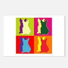 French Bulldog Silhouette Pop Art Postcards (Packa