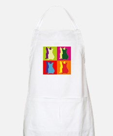 French Bulldog Silhouette Pop Art Apron