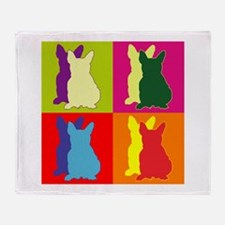 French Bulldog Silhouette Pop Art Throw Blanket