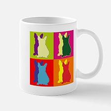 French Bulldog Silhouette Pop Art Mug