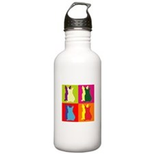 French Bulldog Silhouette Pop Art Water Bottle