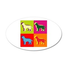 Labrador Retriever Silhouette Pop Art 22x14 Oval W