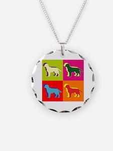 Labrador Retriever Silhouette Pop Art Necklace