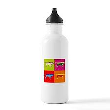 Pointer Silhouette Pop Art Water Bottle