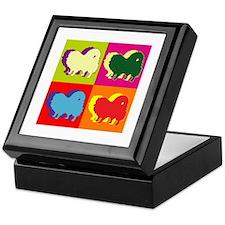 Pomeranian Silhouette Pop Art Keepsake Box