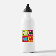 Pomeranian Silhouette Pop Art Water Bottle