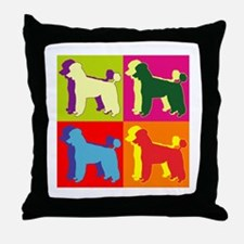 Poodle Silhouette Pop Art Throw Pillow