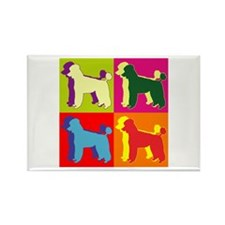 Poodle Silhouette Pop Art Rectangle Magnet