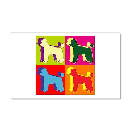 Poodle Silhouette Pop Art Car Magnet 20 x 12