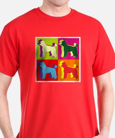 Poodle Silhouette Pop Art T-Shirt